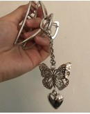 FREE SHIPPING LADIES HEART BUTTERFLY HAIRPIN