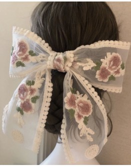 FREE SHIPPING HAND MAKE FLORA EMBROIDERY HAIRPINS