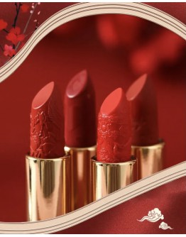 【WHOLESALE 】RED-CROWNED CRANE SCULPTURE RED CHINA STYLE LIPSTICK MAKE UP