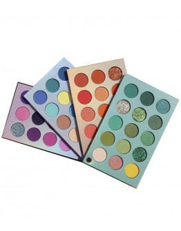 FREE SHIPPING COLOR BOARD BEAUTY GLAZED 4 EYESHADOWS
