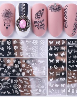 NAIL PATTERN CLEARLY ENGRAVED STZ