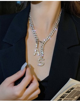 FREE SHIPPING RHINESTONE AS NECKLACE