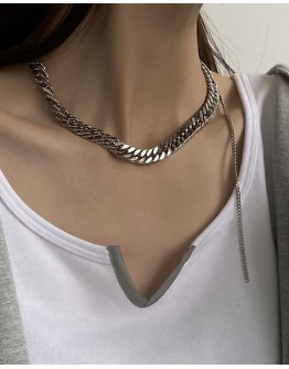 FREE SHIPPING UNISEX TITANIUM STEEL LONG-LINE NECKLACE