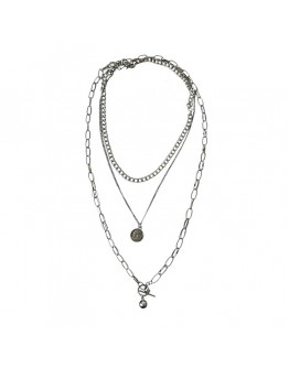 METAL CHAIN 3 IN 1 NECKLACE