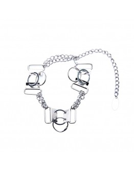 UNISEX RINGS CHAIN NECKLACE