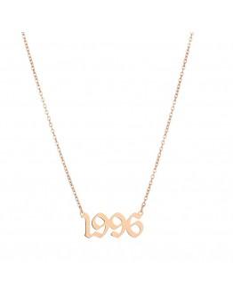 LADIES TITANIUM STEEL ROSE-GOLD YEARS NECKLACE
