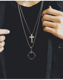 FREE SHIPPING UNISEX CROSS NECKLACE + RING NECKLACE