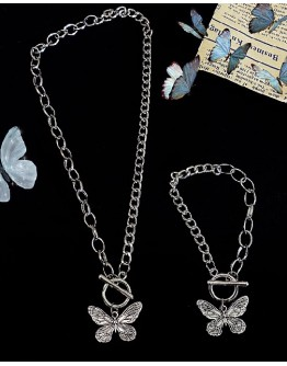 UNISEX BUTTERFLY CHAIN NECKLACE / BRACELET