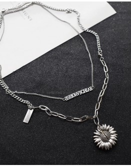 FREE SHIPPING UNISEX TITANIUM STEEL SUNFLOWER + SESSIONARCHIVE NECKLACE
