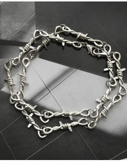 FREE SHIPPING UNISEX METAL BRAMBLES PATTERED NECKLACE