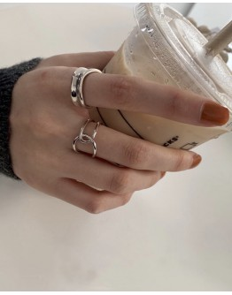 FREE SHIPPING 925 SILVERY ASSORTED RING SET