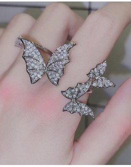 LADIES FAUX DIAMOND BUTTERFLY RING