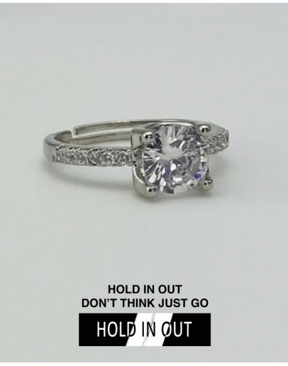 【GS】FREE SHIPPING S925 ONE CARAT RHINESTONE RING WITH BOX