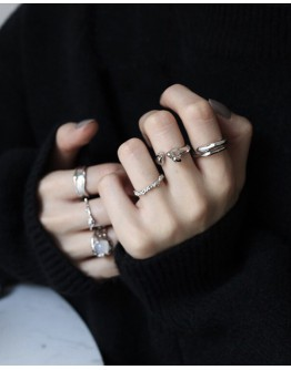 (BUY 2 FREE 2) FREE SHIPPING 925 SILVERY OPEN-END DESIGN RING
