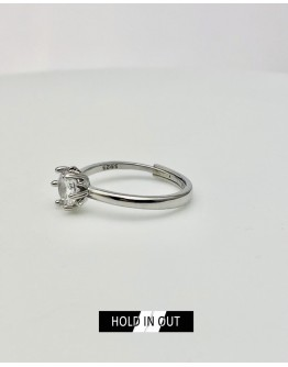【GS】FREE SHIPPING S925 OPEN-END RHINESTONE RING WITH BOX