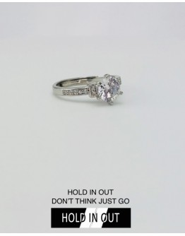 【GS】FREE SHIPPING S925 OPEN-END DIAMONDS RHINESTONE RING WITH BOX