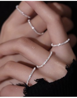 ( BUY 4 FREE 1 )FREE SHIPPING 925 SILVERY RINGS