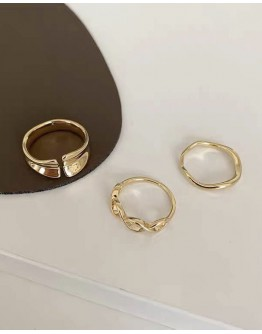 FREE SHIPPING TITANIUM STEEL OPEN-END SMOOTH RINGS SET