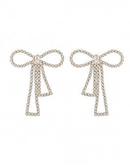 FREE SHIPPING FAUX GEM BOWKNOT EARRINGS