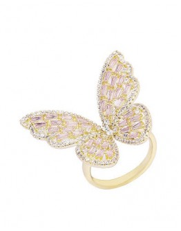 FREE SHIPPING BUTTERFLY FAUX GEM CUT-OUT RINGS