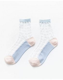 FREE SHIPPING STRIPE PATTERNED 2 PAIRS SOCKS