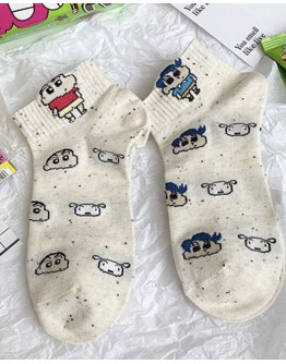FREE SHIPPING LADIES SHIN CHAN 5 PAIRS ANKLE SOCKS