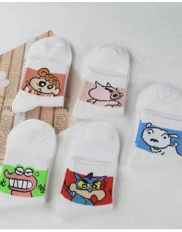 FREE SHIPPING LADIES SHIN CHAN ANIMATION 5 PAIRS SOCKS