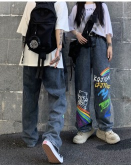 FREE SHIPPING UNISEX RAINBOW REGULAR JEANS