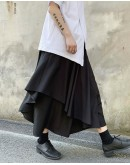 FREE SHIPPING ASYMMETRICAL LOOSE TROUSERS
