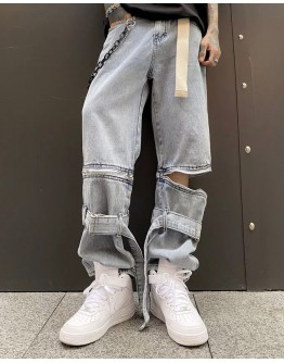 MENS CARTOON PATTERED REGULAR JEANS