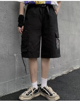 FREE SHIPPING UNISEX LACE-UP PATTERED ELASTIC SHORTS