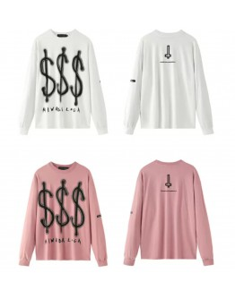 FREE SHIPPING $$$ PRINT LONG-SLEEVED TOPS
