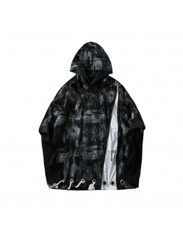 FREE SHIPPING UNISEX LACE-UP FALSE-TWO HOODIE SWEATER