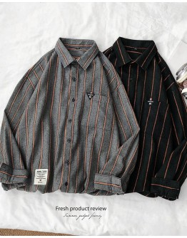 MENS BASIC STRIPE PLUS SHIRT