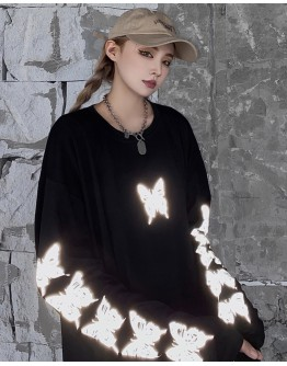 FREE SHIPPING UNISEX BUTTERFLY REFLECT LONG-SLEEVED TOPS