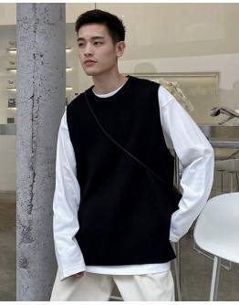 FREE SHIPPING MENS KNITTED OUTWEAR VEST