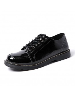 MENS LACE-UP FAUX LEATHER LOAFER