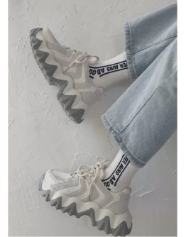 【GS】LADIES SNEAKERS 3cm ( SMALL HALF SIZE )