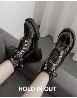 FREE SHIPPING LADIES CHAIN MARTENS BOOTS