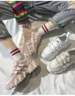 FREE SHIPPING FAUX LEATHER SNEAKERS