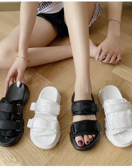 LADIES HOOK-AND-LOOP FASTENER SANDALS