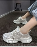 LADIES CUT-OUT LACE-UP SNEAKERS