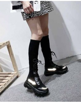 LADIES REFLECT LACE-UP SHORT BOOTIES/ LONG BOOTIES