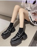 FREE SHIPPING PATENT FAUX LEATHER LOAFERS