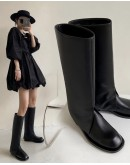 FREE SHIPPING LOOSE FAUX LEATHER BOOTIES