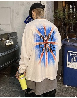 UNISEX NOW FUTURE PRINT LONG-SLEEVED TOPS