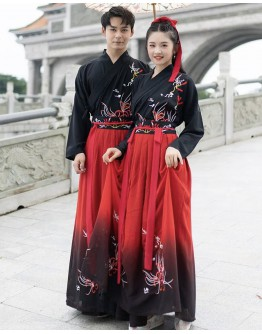 UNISEX EMBROIDER HANFU TOPS + BOTTOMS/ JACKET