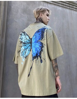 UNISEX BUTTERFLY PRINT LOOSE TOPS