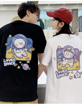 FREE SHIPPING UNISEX LOVER SPACE BEAR RABBIT TOPS