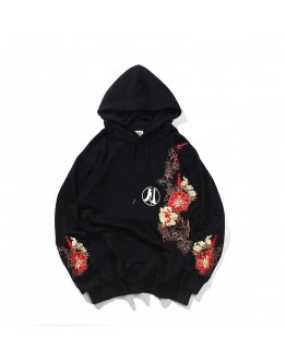 UNISEX EMBROIDER RABBIT HOODIE SWEATER